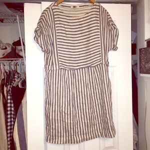Madewell striped navy/cream dress size medium!